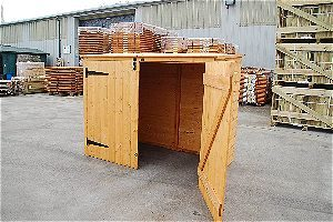 Bosmere Rowlinson A042 Wood Garbage Can Shed