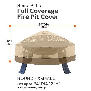"Classic Accessories Veranda 24"" Round Fire Pit Cover"