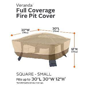 """CA Veranda 30"""" Square Fire Pit Cover"""