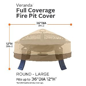 "Classic Accessories 36"" Round Fire Pit Cover"