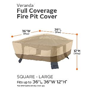 "Classic Accessories Veranda 36"" Square Fire Pit Cover"