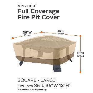 """Classic Accessories Veranda 36"""" Square Fire Pit Cover"""