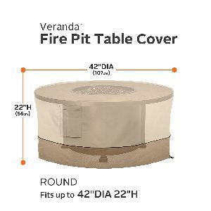 "CA Veranda Tall 42"" Round Fire Table Cover"