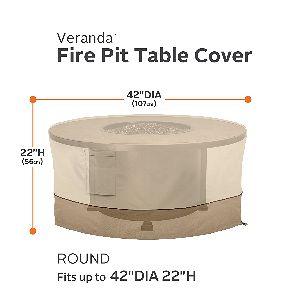 """CA Veranda Tall 42"""" Round Fire Table Cover"""