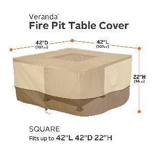 "Classic Accessories Veranda 42"" Square Fire Table Cover"