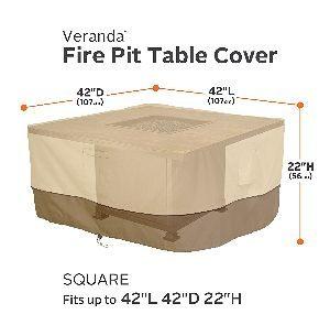 """Classic Accessories Veranda 42"""" Square Fire Table Cover"""