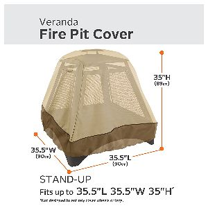 "Classic Accessories Veranda XL Tall 35"" Square Fire Pit CoverClassic Accessories Veranda XL Tall 35"" Square Fire Pit Cover"