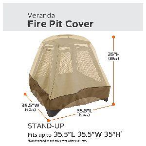 """Classic Accessories Veranda XL Tall 35"""" Square Fire Pit CoverClassic Accessories Veranda XL Tall 35"""" Square Fire Pit Cover"""