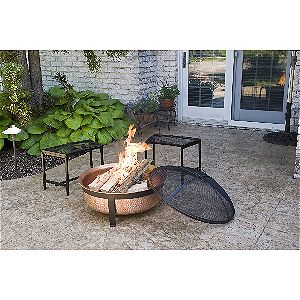 CobraCo SH101 Copper Fire Bowl In Action