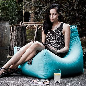 Jaxx Juniper Outdoor Bean Bag Chair Blue