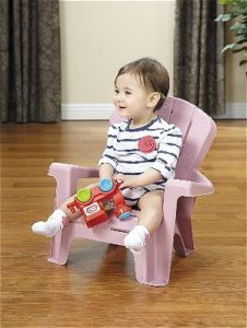 Kid in Pink Little Tikes Adirondack Chair