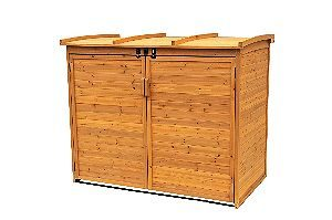 Leisure Season Trash Can Shed, the best Wooden Trash Can Holders Around!