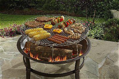 fire pit grates for cooking outsidemodern. Black Bedroom Furniture Sets. Home Design Ideas