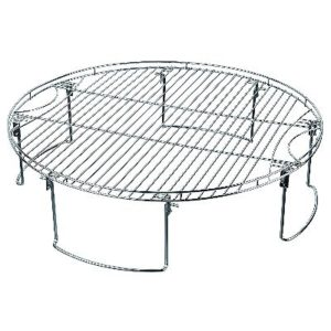MR. BAR-B-Q Large Round Cooking Grate with Folding Legs, Silver