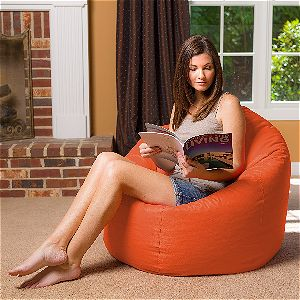 Posh Bean Bag Chair, Orange
