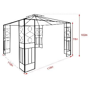 Quictent Soft Top Gazebo Dimensions