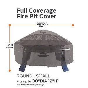 "Classic Accessories Ravenna 30"" Round Fire Pit Cover"