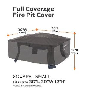 "Classic Accessories Ravenna 30"" Square Fire Pit Cover"