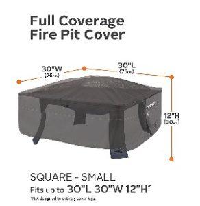 "Classic Accessories Ravenna 30"" Square Fire Pit Cover"