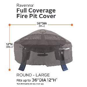 "Classic Accessories Ravenna 36"" Round Fire  Pit Cover"