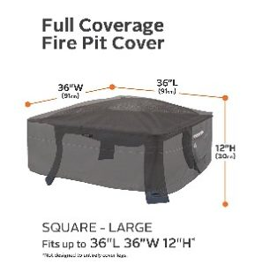 "Classic Accessories Ravenna 36"" Square Fire Pit Cover"