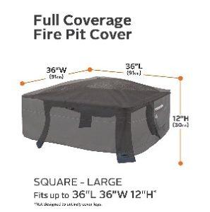 "Classic Accessories Ravenna 36"" Square Fire Pit Cover"