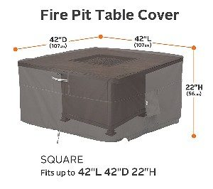 "Classic Accessories Ravenna 42"" Square Fire Table Cover"