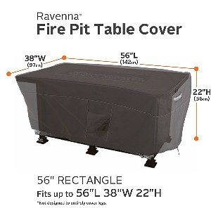 "Classic Accessories Ravenna 56"" Rectangular Fire Table Cover"