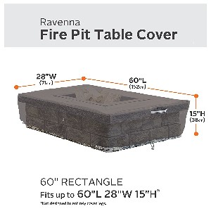 "Classic Accessories Ravenna 60"" Rectangular Fire Table Cover"
