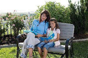 Reading on the Lifetime 2871 Glider Loveseat