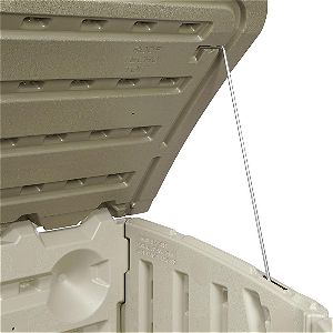 Rubbermaid Outdoor Horizontal Storage Shed Lid Hinge Detail