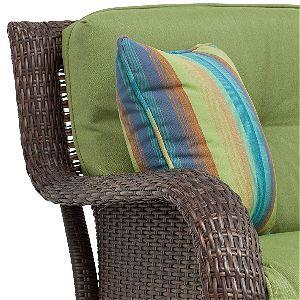 Sawyer Resin Wicker Seat Detail
