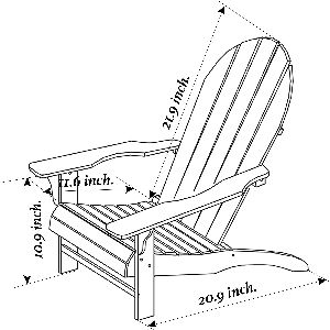 Songsen Childrens Adirondack Chair Detail