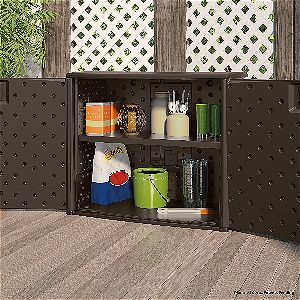 Suncast Elements Outdoor 40in Trash Can Storage Container