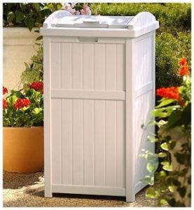 Suncast Outdoor Trash Hideaway In Context
