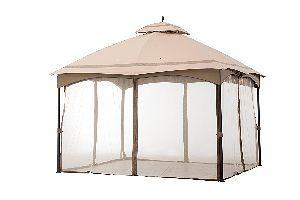 Sunjoy Cabin Style Gazebo with Mosquito Netting