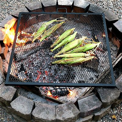 How to Cook on a FirePit: Sunnydaze X Marks Grill Grate on Fire Pit