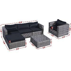 Tangkula 6 Pcs Furniture Set Dimensions