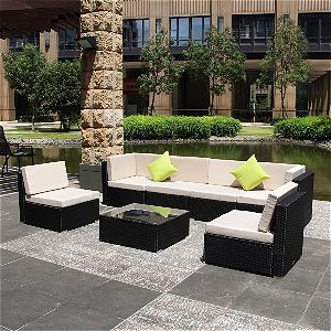 Resin Wicker Sectional by U-Max