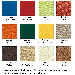 Urban Design Furnishings Color Swatch Chart