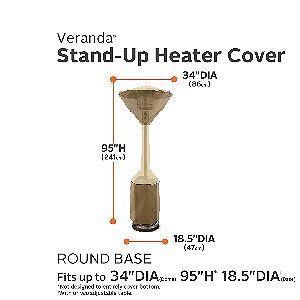 Veranda Pole Heater Cover Dimensions