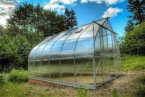 9x14 6-MM Twin-wall Polycarbonate Greenhouse, ClimaPod kit