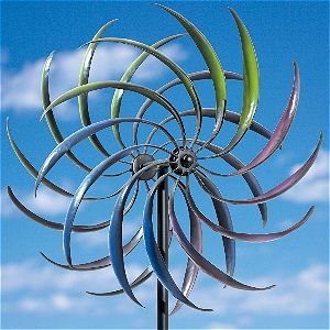 Bits and Pieces - Rainbow Kinetic Garden Pinwheel