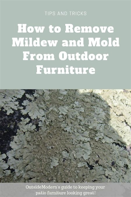 How To Remove Mildew From Outdoor Furniture