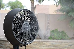 NewAir AF-520B Oscillating Outdoor Misting Fan