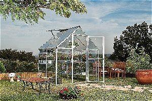 Palram Nature Series Hybrid Hobby Greenhouse - 6' x 4' x 7', Silver