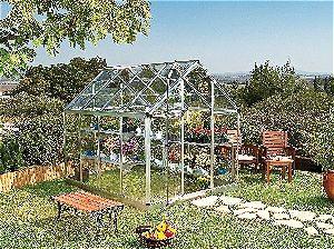 Palram Snap & Grow 6ft Series Hobby Greenhouse - 6 x 8 x 7 Silver