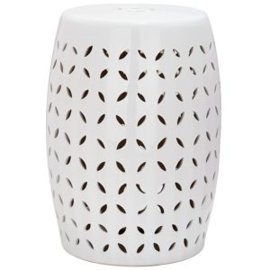 Safiveh Lattice Petal Stool - the Best Ceramic Garden Stools Around!