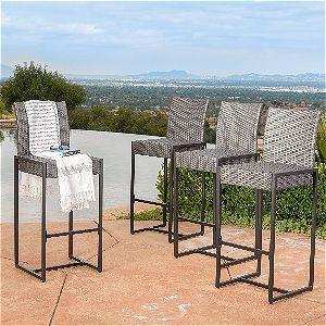 Conrad Patio Furniture ~ Outdoor Bar Stools Set Of 4