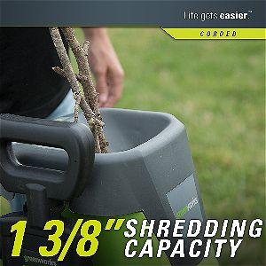 Greenworks 15 Amp Electric Shredder & Chipper 24052